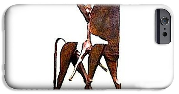Macro Sculptures iPhone Cases - Herald 2 iPhone Case by Al Goldfarb