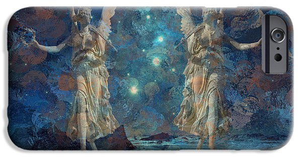 Night Angel iPhone Cases - Herald the Night 2015 iPhone Case by Kathryn Strick