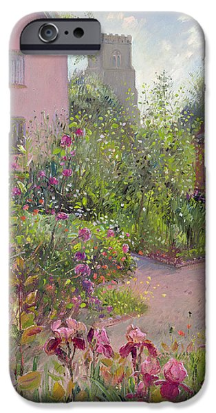 Garden iPhone Cases - Herb Garden at Noon iPhone Case by Timothy Easton