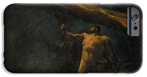 Dalt iPhone Cases - Hercules Searching for the Hesperides iPhone Case by Celestial Images