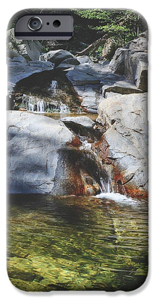 Creek iPhone Cases - Here I Soak You In iPhone Case by Laurie Search