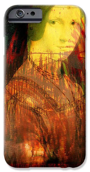 Model iPhone Cases - Here is Paint In Your Eye iPhone Case by Seth Weaver
