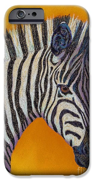 Stripes Pastels iPhone Cases - Heres Lookin at You iPhone Case by Tracy L Teeter