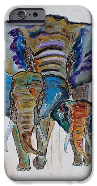Elephants iPhone Cases - Heritage Walk iPhone Case by Ella Kaye Dickey