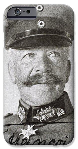 World War One iPhone Cases - Hermann Von Fran Ois 1856 - 1933 German iPhone Case by Ken Welsh