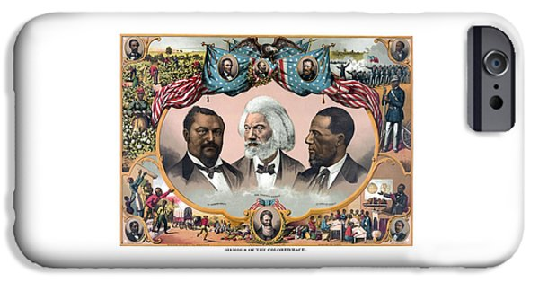 Lincoln iPhone Cases - Heroes Of The Colored Race  iPhone Case by War Is Hell Store