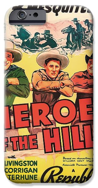 The Hills Mixed Media iPhone Cases - Heroes Of The Hills 1938 iPhone Case by Mountain Dreams