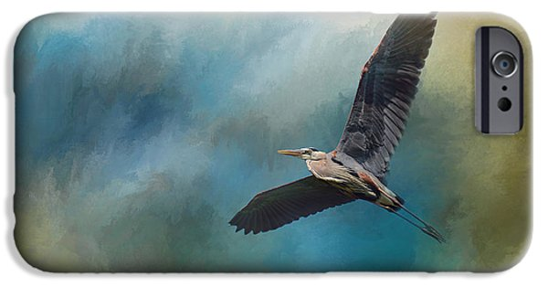 Sea Birds iPhone Cases - Heron In The Midst iPhone Case by Jai Johnson