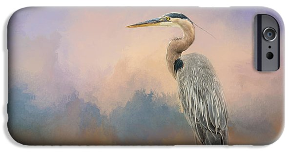 Sea Birds iPhone Cases - Heron On The Rocks iPhone Case by Jai Johnson