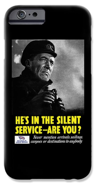 Lips Mixed Media iPhone Cases - Hes In The Silent Service - Are You iPhone Case by War Is Hell Store