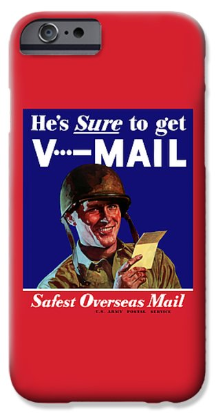 World War I iPhone Cases - Hes Sure To Get V-Mail iPhone Case by War Is Hell Store