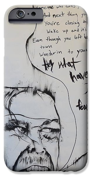 Mix Medium Drawings iPhone Cases - Hey What Have I Found iPhone Case by Grant Flowers