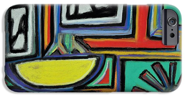 Abstract Digital Pastels iPhone Cases - Hi Hi  iPhone Case by Sarah Kirk