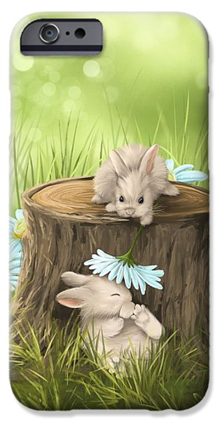 Puppies iPhone Cases - Hi there iPhone Case by Veronica Minozzi