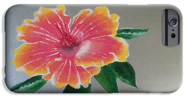 Canvas iPhone Cases - Hibiscus Flower iPhone Case by Nura Abuosba