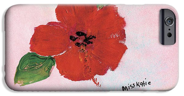 Art Medium iPhone Cases - Hibiscus iPhone Case by Katie OBrien - Printscapes