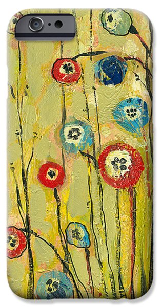 Florals iPhone Cases - Hidden Poppies iPhone Case by Jennifer Lommers
