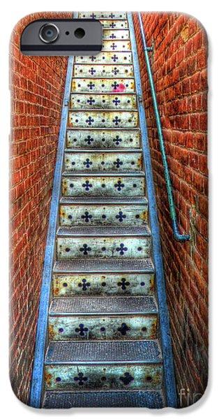 Popular iPhone Cases - Hidden Stairway in Old Bisbee Arizona iPhone Case by Charlene Mitchell