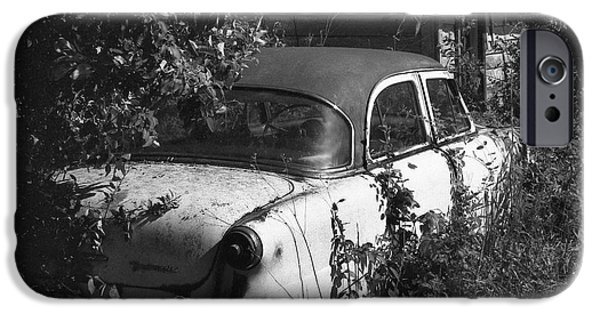 Rusted Cars iPhone Cases - Hidden Treasure iPhone Case by Richard Rizzo