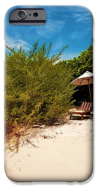 Hideaway. Maldivian Beach iPhone Case by Jenny Rainbow