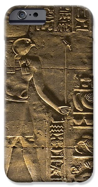 Hieroglyph at Edfu iPhone Case by Darcy Michaelchuk