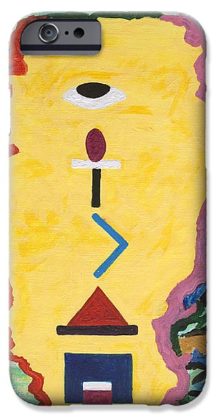Technology iPhone Cases - Hieroglyphic Face iPhone Case by Stormm Bradshaw