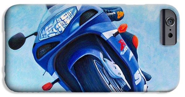 Motorcycle iPhone Cases - High Desert Pass - Suzuki GSXR1000 iPhone Case by Brian  Commerford