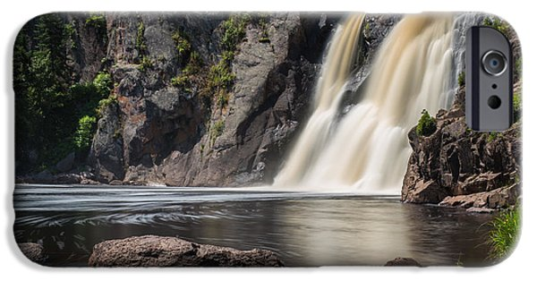 Pines iPhone Cases - High Falls at Tettegouche State Park 5 iPhone Case by Bill Bucu