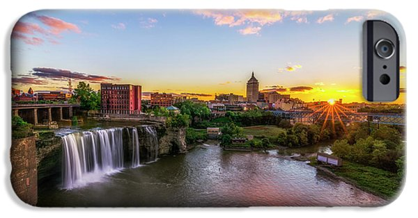 River iPhone Cases - High Falls Rochester NY iPhone Case by Mark Papke