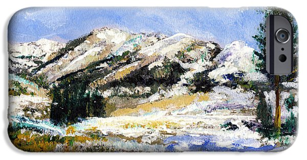 Snow iPhone Cases - High Sierra Snow Melt iPhone Case by Randy Sprout