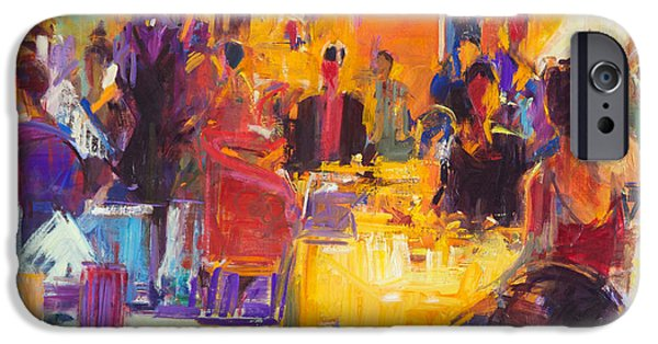 Waiter Paintings iPhone Cases - High Society iPhone Case by Peter Graham