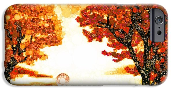 Trees At Sunset iPhone Cases - Highest Perception Remix iPhone Case by Steven Boland