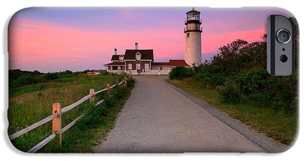 Cape Neddick Lighthouse iPhone Cases - Highland Light iPhone Case by Emmanuel Panagiotakis