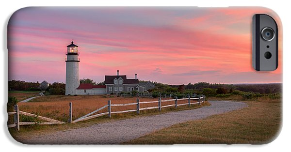 New England Lighthouse iPhone Cases - Highland Light Sunset 2015 iPhone Case by Bill Wakeley