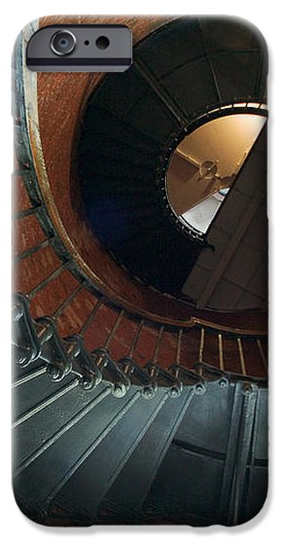 Highland Lighthouse stairs Cape Cod iPhone Case by Matt Suess