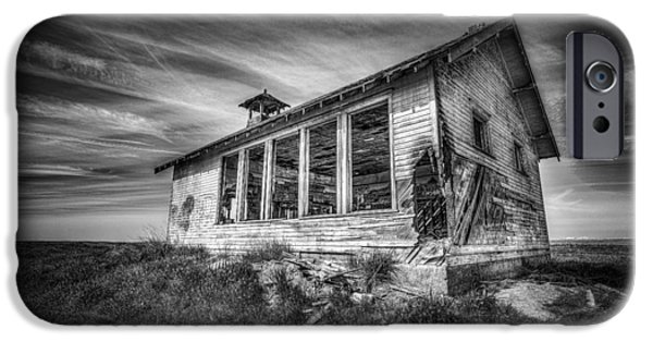 Abandoned School House. iPhone Cases - Highland School House iPhone Case by Spencer McDonald