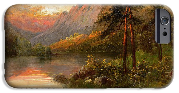 Wilderness iPhone Cases - Highland Solitude iPhone Case by Frank Hider