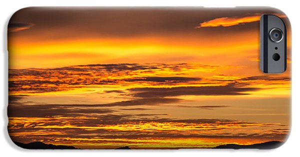 States iPhone Cases - Highway 2 Sunrise iPhone Case by Ryan McGinnis