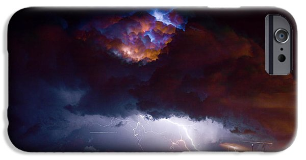 Lightning Images iPhone Cases - Highway 52 Thunderhead Lightning Cell iPhone Case by James BO  Insogna