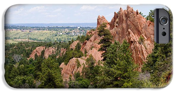 Pines iPhone Cases - Hiking the Mesa Trail in Red Rocks Canyon Colorado iPhone Case by Steve Krull