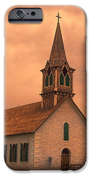 Religious iPhone Cases - Hill Country Sunset - St Olafs Church iPhone Case by Stephen Stookey