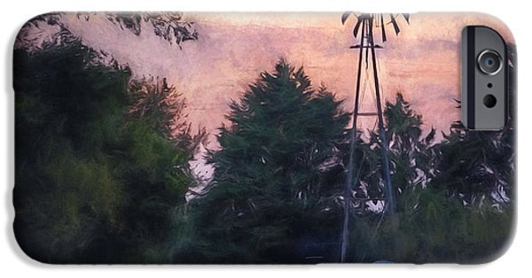 Rural iPhone Cases - Hill Country windmill iPhone Case by Scott Norris