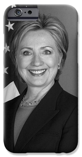 Presidential Elections iPhone Cases - Hillary Clinton iPhone Case by War Is Hell Store