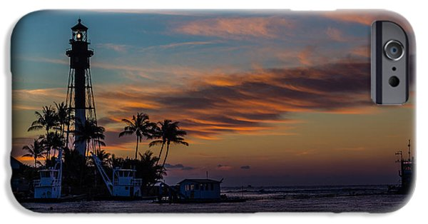 Night Lamp Mixed Media iPhone Cases - Hillsboro Inlet Light iPhone Case by Capt Gerry Hare