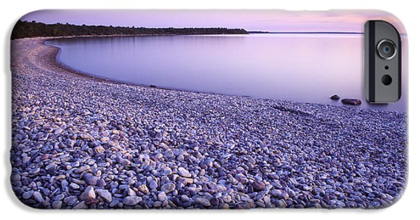 Colour Image iPhone Cases - Hillside Beach, Lake Winnipeg, Manitoba iPhone Case by Dave Reede