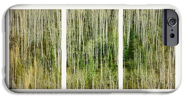 Abstract Lines iPhone Cases - Hillside Forest iPhone Case by Priska Wettstein