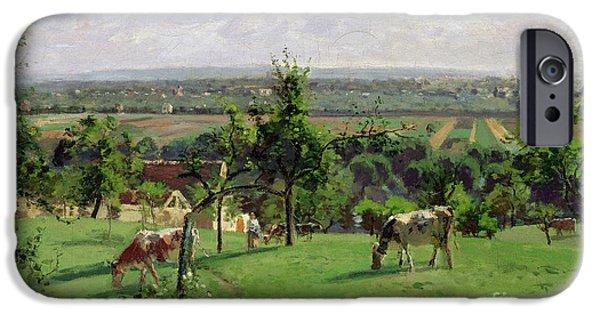 Camille Pissarro iPhone Cases - Hillside of Vesinet iPhone Case by Camille Pissarro