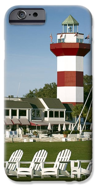 Golf Course iPhone Cases - Hilton Head Island Lighthouse iPhone Case by Dustin K Ryan