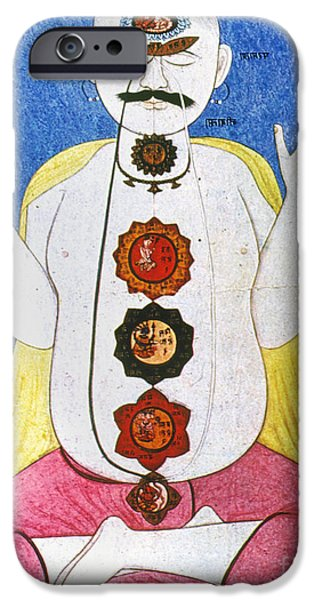Kundalini iPhone Cases - Hindu Chakras Wheels iPhone Case by Granger
