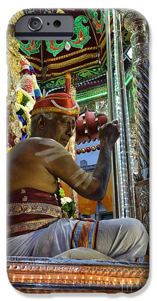 Religious iPhone Cases - Hindu man in costume sits on vehicle for festival Singapore  iPhone Case by Imran Ahmed